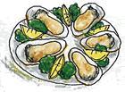 牡蠣の殻焼き